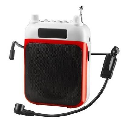 索爱 S-368 多功能扩音器 (便携式大功率带收音机 MP3适用:导游 教学 腰挂式唱戏机)红色产品图片2