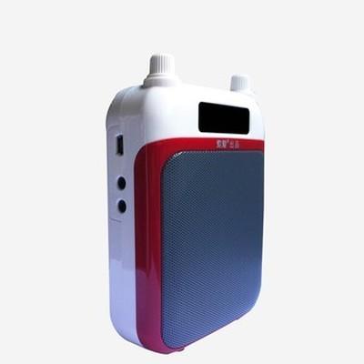 索爱 S-368 多功能扩音器 (便携式大功率带收音机 MP3适用:导游 教学 腰挂式唱戏机)红色产品图片4
