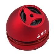 魅动e族 MD-9110 1015迷你音箱插卡电脑音响 读取TF卡MP3式插耳机音响带锂电 红色