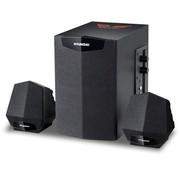 现代 F240 黑色 游戏音箱/多媒体音箱音响 2.1声道 18W大功率 木质HIFI低音炮
