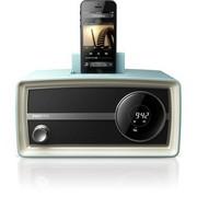 飞利浦 ORD2105迷你音响复古收音机 iphone6/5/ipod苹果充电音箱 蓝色