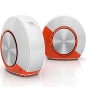 JBL PEBBLES音乐蜗牛 即插即用立体声音箱 橙色