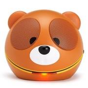 魔杰 Q10 卡通笨笨熊 便携笔记本电脑USB小音响 迷你卡通音箱 咖啡色