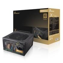 海韵 额定650W X-650 电源(80PLUS金牌/全模组/全日系电容/支持SLI/支持背线)产品图片主图
