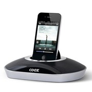 酷克斯 M1 苹果音箱iphone4/4s音响苹果充电底座迷你音箱,精致轻巧,炫酷之感、震撼音效 黑