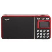 乐果 R908 TF卡U盘 带锂电 mini数码音响 带FM 中文显示屏(可乐红)