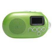 乐果 Q12彩色版 超便携插卡 数码 迷你音箱 收音机 美轮美奂 中文显示屏(草绿)