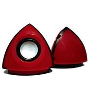 屁颠虫 012 USB便携式低音炮/金字塔时尚小音箱(红色)