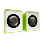 屁颠虫 010A加强版 USB便携式线控迷你彩色笔记本音响(绿色)