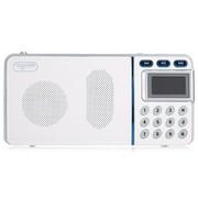 乐果 R908 TF卡U盘 带锂电 mini数码音响 带FM 中文显示屏(象牙白)