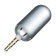 SANWA SUPPLY 山业 MM-MCSP1SV 苹果专用迷你子弹扬声器可作麦克风