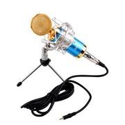 双诺 Z09专业电容有线麦克风 网络K歌 电脑/扩音器话筒 蓝色(配声卡 三角支架 咪套 6.5mm转接头)