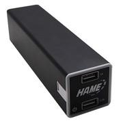华美 P8 22400mAh超大容量移动电源 充电宝(黑色)