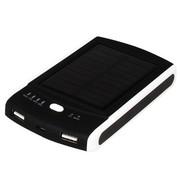 斯丹德 S6000 聚合物电芯6000mAh  双USB输出  太阳能移动电源 白色