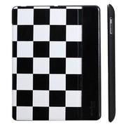 奇克摩克 棋盘格系列 苹果iPad2/new iPad3/iPad4保护壳/保护套 iPad3保护套 iPad4保护套 黑色