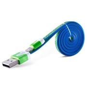 Capshi 苹果数据线 USB电源充电线 适用于iPhone5/5s/5c/6/Plus iPad4/5 Air mini2/3  炫彩绿
