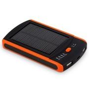 斯丹德 S6000 聚合物电芯6000mAh  双USB输出  太阳能移动电源 橙色
