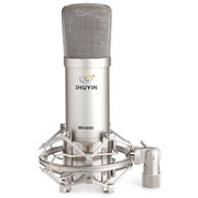 舒音 MK-800 大振膜电容麦克风 心形指向性 大震膜晶体管 高灵敏度 低噪声 频带宽 银色