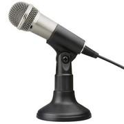 现代 HY-M20II 台式麦克风 手持话筒 电脑专用 网络KTV/K歌/卡拉OK/语音电话聊天 金属材质 银色