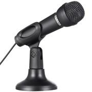 耳神 ES130 台式麦克风 手持话筒 电脑专用 网络K歌 卡拉OK 语音电话聊天 黑色