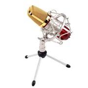 双诺 Z08专业电容有线麦克风 网络K歌 电脑/扩音器话筒  红色(配声卡 三角支架 咪套 6.5mm转接头)