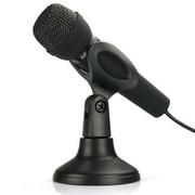 现代 HY-M30 台式麦克风 手持话筒 单插头 电脑专用 网络KTV/K歌/卡拉OK/语音电话聊天 黑色