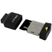 PNY 8G 多功能手机宝贝 TF存储卡+读卡器(黑色)
