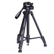 云腾 VT-688 精品便携三脚架云台套装 微单数码单反相机摄像机旅行用 优质铝合金超轻三角架黑色