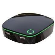 铼德 M6000魔盒高品质聚合物电池 6000mAh USB双输出移动电源 黑绿色