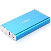 忆捷 T96 16000mAh超大容量2A双USB输出移动电源充电宝 全金属蓝色