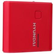 现代 D16 移动电源 7200毫安 轻便系列 红色
