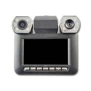 季风岛 双摄像头行车记录仪 高清夜视车载摄像机 双镜头120度旋转 镜头在上