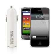 英才星 苹果iPhone 5 三星小米HTC诺基亚等手机专用车载充电器 USB车充5V 1A 白色