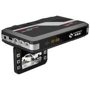 速霸路 台湾 安全预警行车记录仪一体机 HD953 固定流动电子狗 记录仪一体机 黑色 32G高速卡