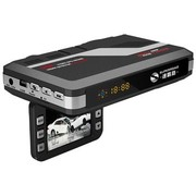速霸路 台湾 安全预警行车记录仪一体机 HD953 固定流动电子狗 记录仪一体机 黑色 8G高速卡