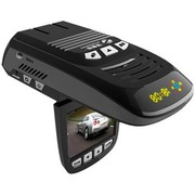速霸路 台湾 HD-921 安全预警行车记录仪一体机 固定流动电子狗 记录一体机 黑色 16G高速卡