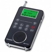 德劲 新品DE1131数字调谐MP3录音复读插卡触摸滑动式全波段FM收音机