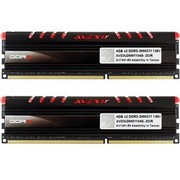 宇帷 CORE系列 火焰红 DDR3 2666 8GB(4G×2条)台式机内存(AVD3U26661104G-2CIR)