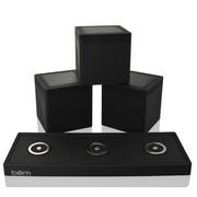 暴享 音箱 美国 bēm HL2002 Speaker Trio 2.4G一拖三无线蓝牙音箱, 黑色