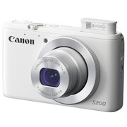 佳能 PowerShot S200 数码相机 白色(1010万像素 3.0英寸屏 24mm广角 F2.0大光圈 WIFI传输)