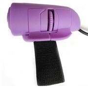 BigToys XCT-520 懒人手指鼠标 创意usb有线戒指鼠标 紫色