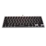 优派 KU855 巧克力式剪刀脚有线键盘USB (银黑)
