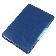 雷麦 LM-KP20 Kindle Paperwhite皮套保护套 吸附款 高档PU 疯马纹 深蓝色