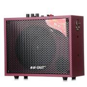 先科 SA-502 多功能便携式插卡户外专业卡拉OK有源音箱 红色