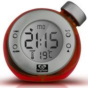 BigToys Along-C1120 智能水发电闹钟 终身无需电池的水元素魔法时钟 创意环保礼品 红色