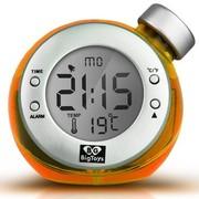 BigToys Along-C1120 智能水发电闹钟 终身无需电池的水元素魔法时钟 创意环保礼品 橙色