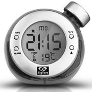 BigToys Along-C1120 全球首款智能水发电闹钟  终身无需电池的水元素魔法闹钟  创意礼品环保闹钟 灰色