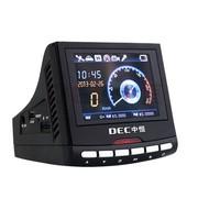 中恒 【DEC】SL191 高清广角行车记录仪 GPS轨迹回放固定电子狗行车记录仪一体机 16G高速卡