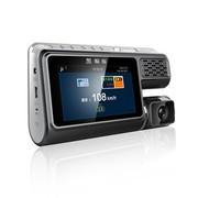 黑蝙蝠 F26 行车记录仪 高清广角夜视 车载行车记录仪测速 固定流动预警 三合一功能一体机 灰色 标配+16G卡