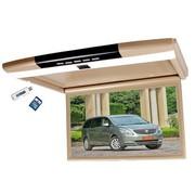 其他 车易得CHEED 全广角15.6寸车载吸顶MP5显示器HDMI 高清1080P汽车顶液晶屏 米色配无线耳机